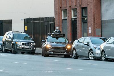 UBER Self Driving Vehicle Testing, San Francisco, CA