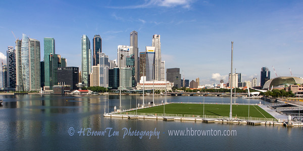 Floating Soccer Field on Marina Bay Reservoir
