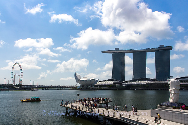 A sense of perspective -- each of the three Marina Bay Sands towers stand 50 stories high