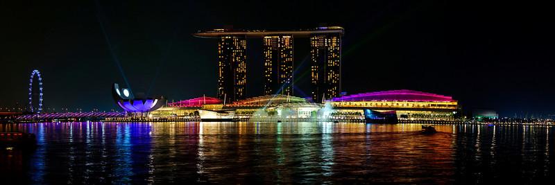 Marina Bay, Singapore<br /> <br /> Night panoramic shot of Marina Bay<br /> <br /> Nikkor 16-35 @ f8