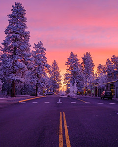 Frosty Sisters Sunrise (Vertical)