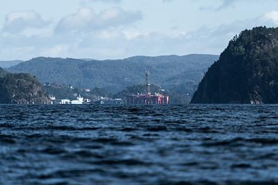 Oil rig at shore