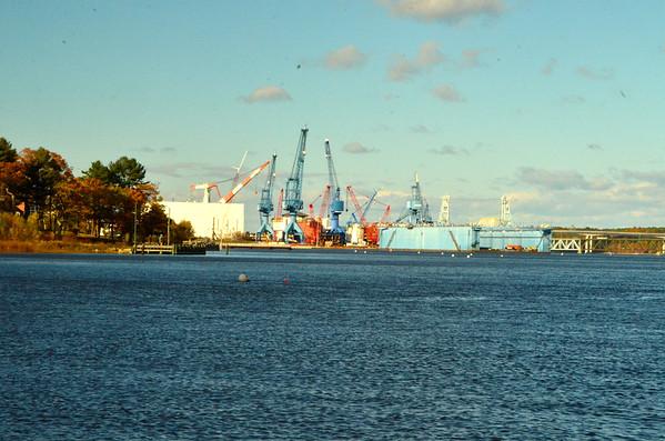The cranes, BIW, Bath, Maine