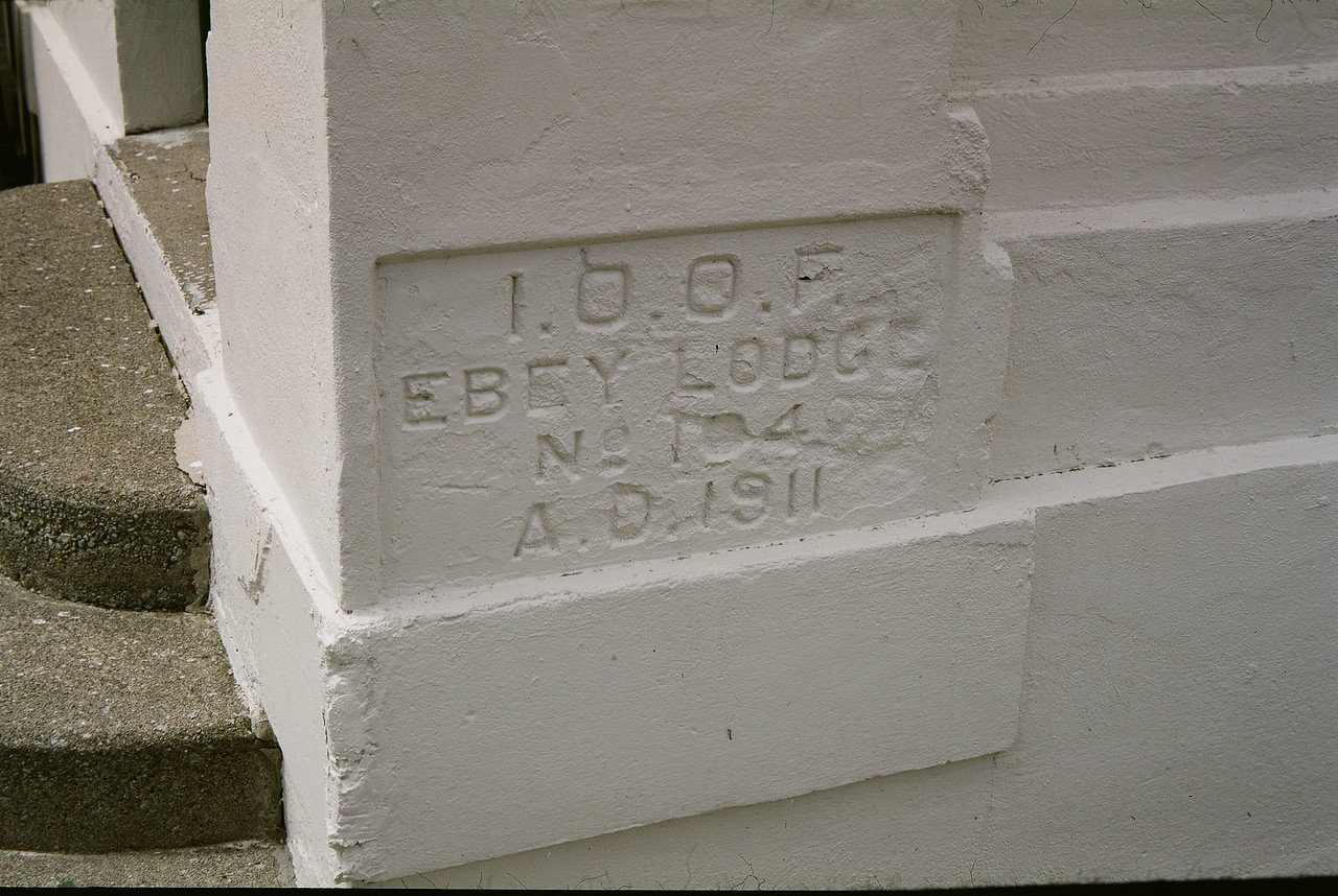 Marysville Opera House Cornerstone