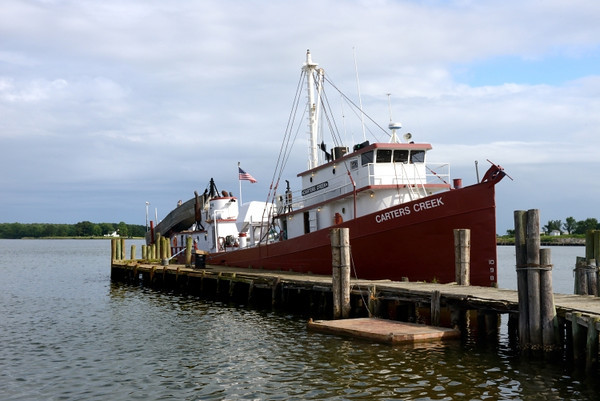 One of the commercial fishing boats that work out of Reedville, VA.