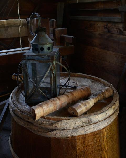 Inside the blacksmith's shop at George Washington's birthplace.