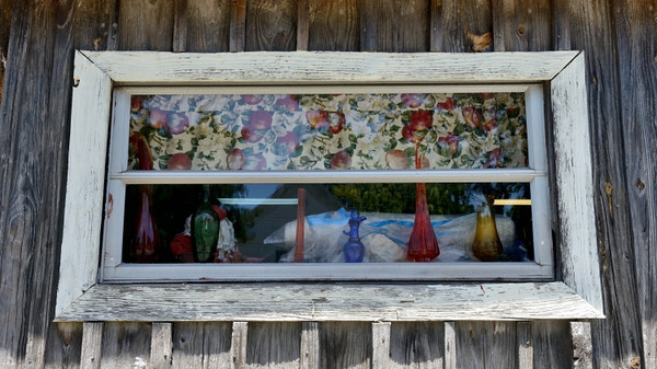 Window at the local eatery on Smith Island.