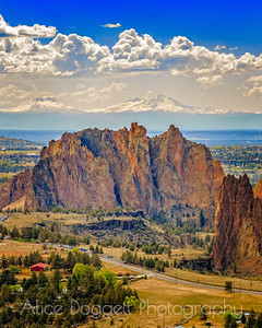 Smith Rock Overview-Vertical, Smith Rock State Park, Central Oregon