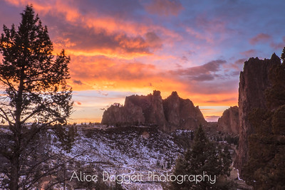 Red Sky At Night,  Smith Rock State Park, Central Oregon