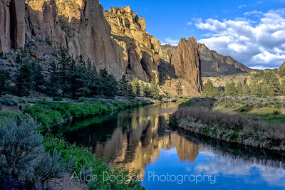 Reflections at Smith Rock, Smith Rock State Park, Central Oregon