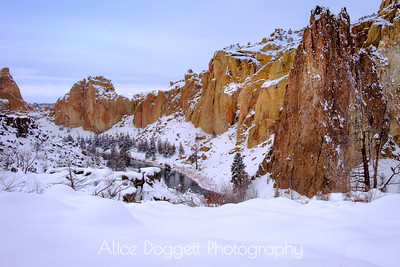 A Winter Mood At Smith Rock