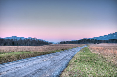 Sunset in Cades Cove