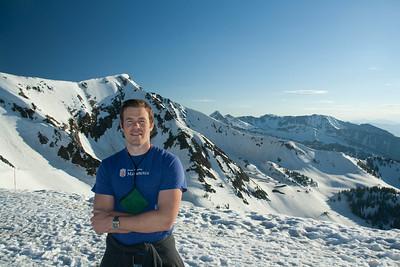Joris on top of the mountain