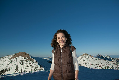 Radmila on top of the mountain