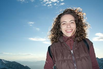 Radmila on top of the mountain