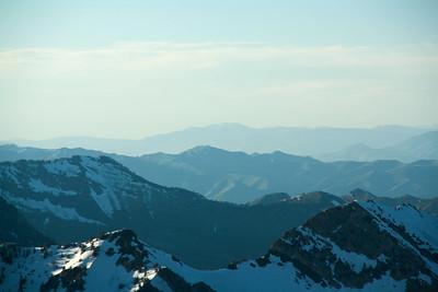 Utah mountain ridges