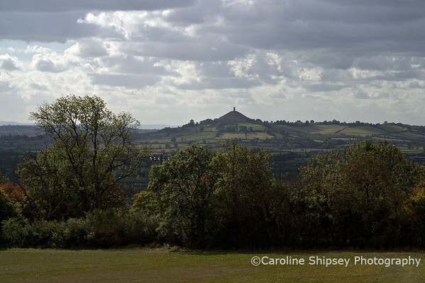 Glastonbury Tor from Worminster Hill area