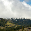 Snow close to sea level. Near Little Black Mountain North of Jenner CA.