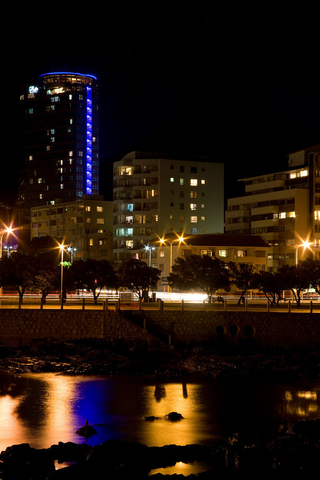 The Ritz, Sea Point, Cape Town, South Africa, at night