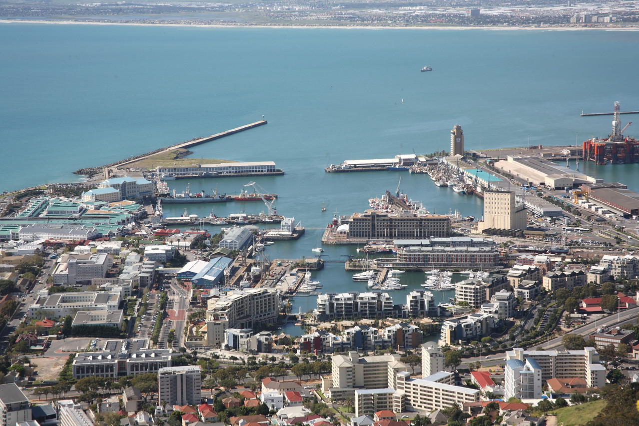 Cape Town harbour, seen from Signal Hill