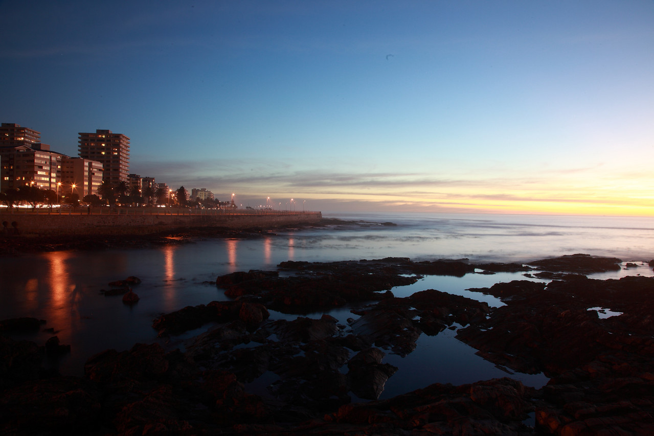 Moulllie Point, Cape Town, South Africa, in the early evening