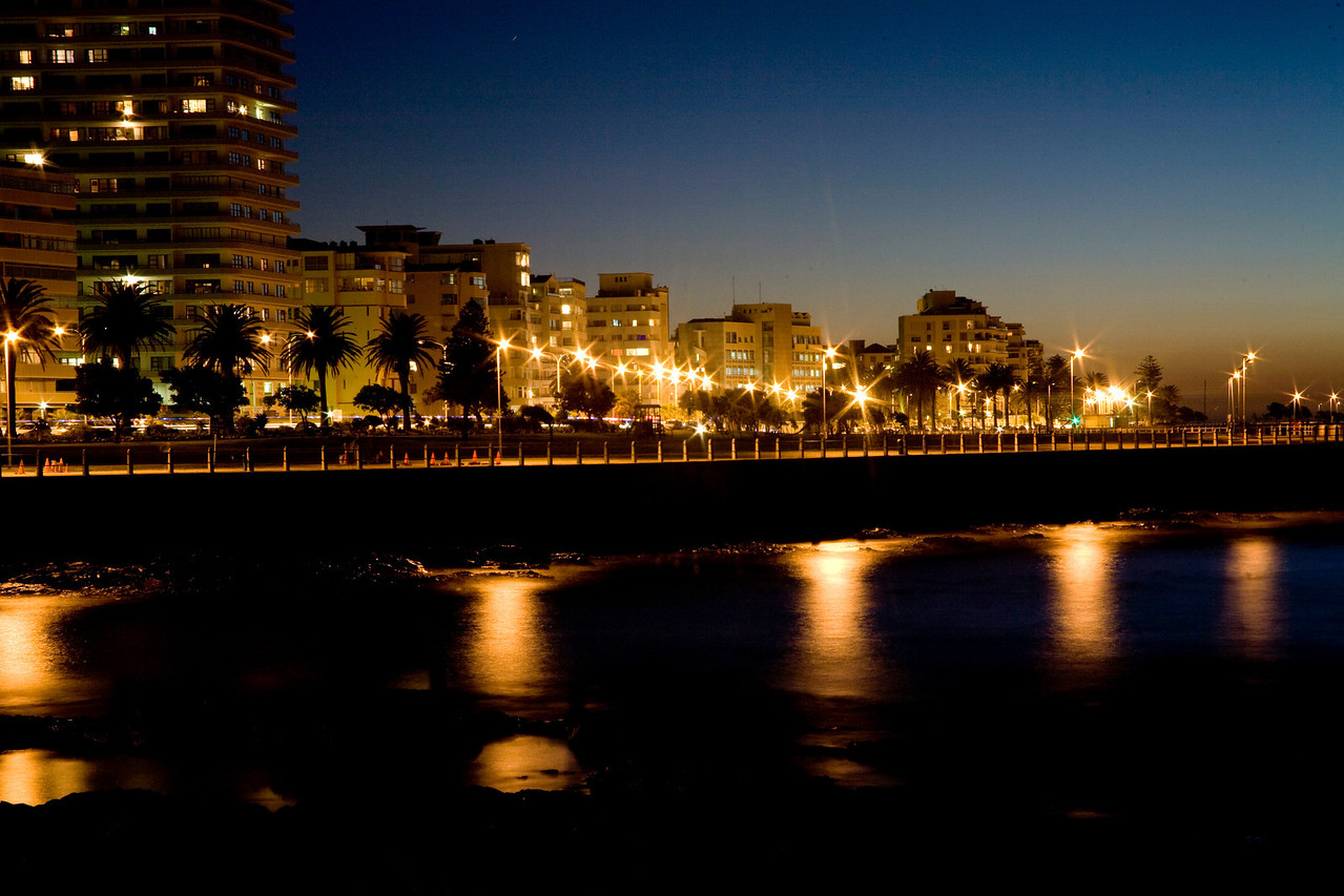 Sea Point, Cape Town, South Africa, at night