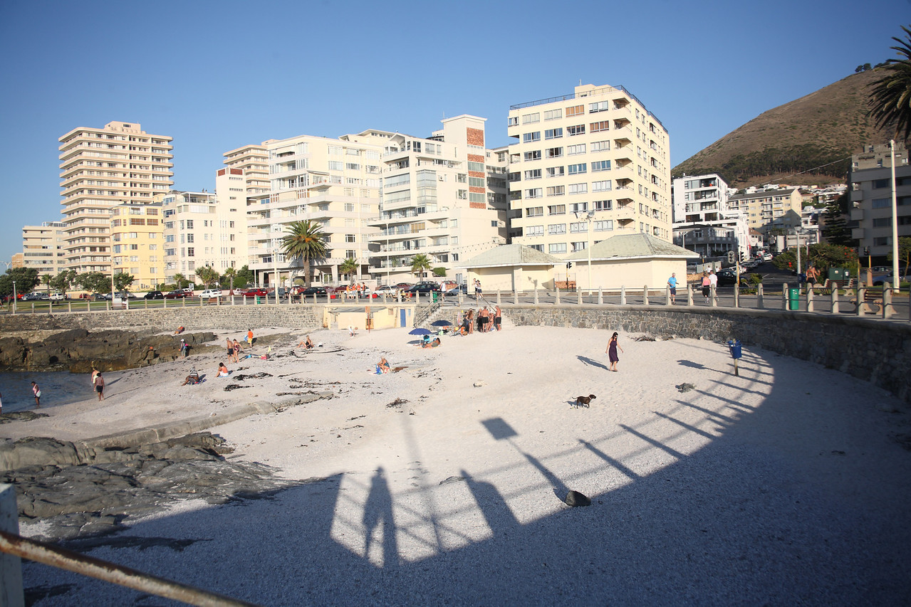 Rocklands Beach, Sea Point, Cape Town, South Africa, in the late afternoon