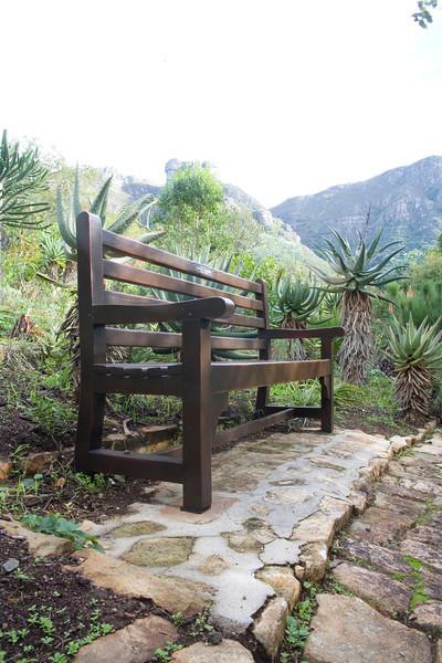 A bench in the Kirstenbosch National Botanical Gardens, Cape Town