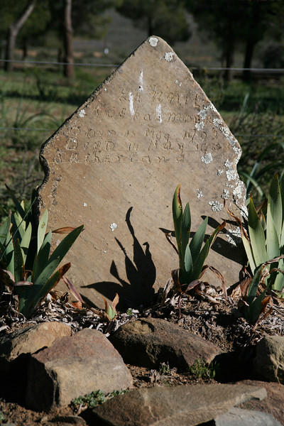 A grave in the cemetery in Sutherland, Northern Cape: Lennie Koekemoer, Born 13 May 1903, Died 12 May 1903