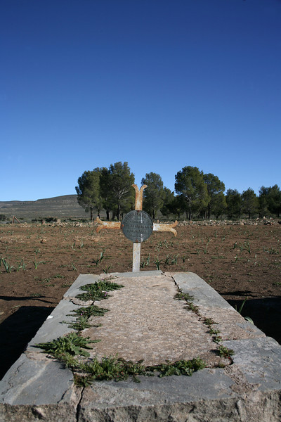 A grave in the cemetery in Sutherland, Northern Cape