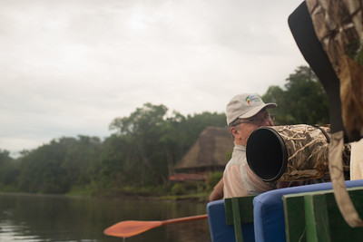 Luis on the canoe - Amazon, Ecuador
