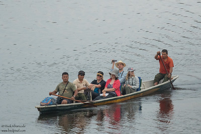 Canoe ride to Napo Wildlife Center - Amazon, Ecuador
