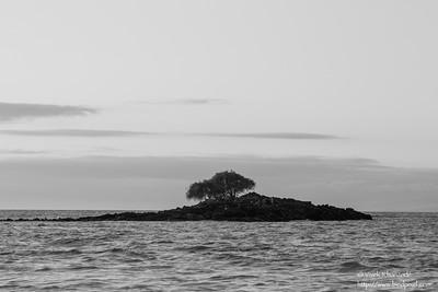 Small island off Las Bachas beach - Isla Santa Cruz, Galapagos, Ecuador