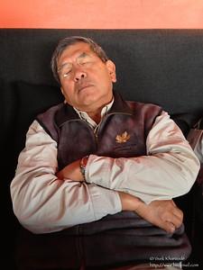 Homin dozed off in Cusco - Peru