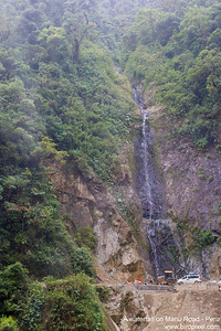 A waterfall on Manu Road - Peru