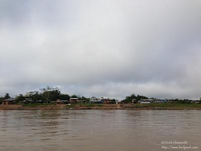 Town of Boca Colorado on Rio Madre-di-dios - Peru