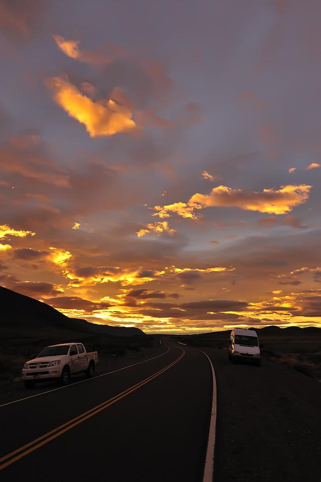 Sunrise near El Calafate