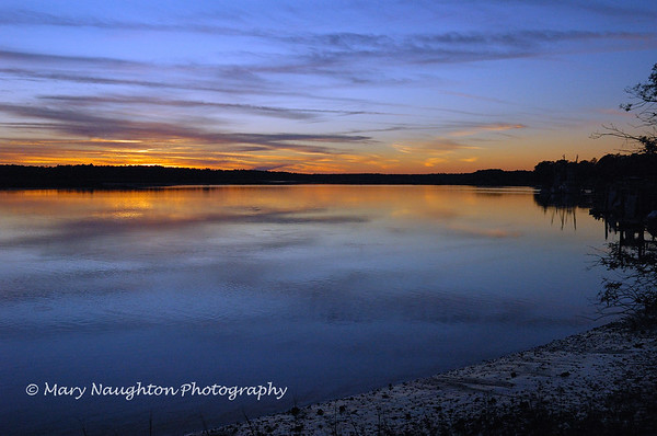 May River after sunset, Bluffton, SC