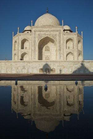 Taj Mahal reflection.