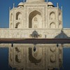 Taj Mahal reflection.