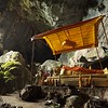 Buddha shrine inside the cave.