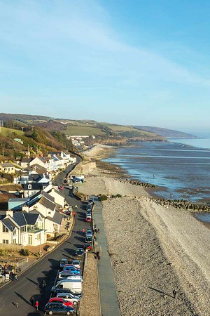 Winter sun at Amroth.