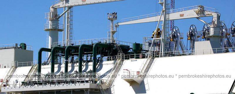 Gas tanker  on Milford Haven Warterway