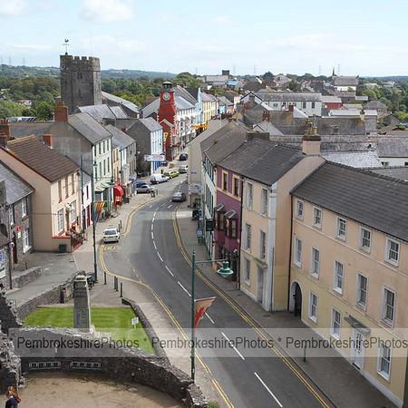 Main St, Pembroke, from the castle.