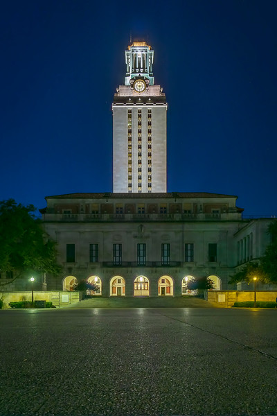 UT Austin by night