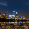 Austin city skyline at night