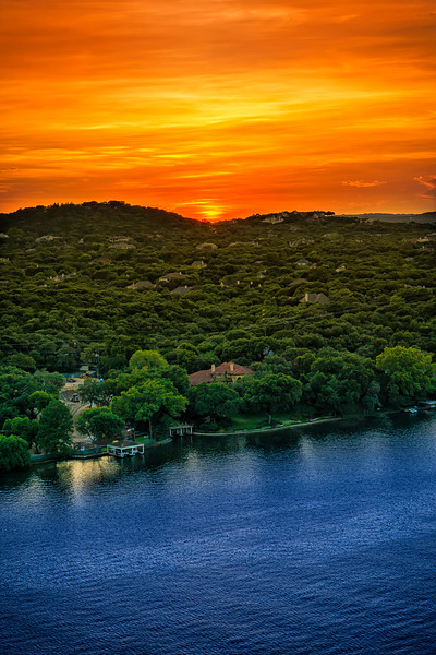 sunset from Mt. Bonnell