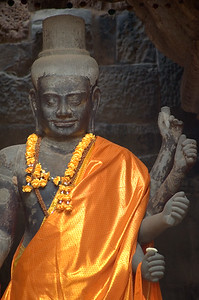 Monk's robe on statute at Ankgor Wat-Angkor Wat-Cambodia