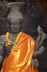 Monk's robe on statute at Ankgor Wat-Angkor Wat-Cambodia