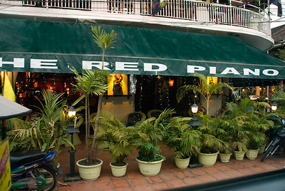 Exterior view of the Red Piano restaurant-The Red Piano Restaurant-Cambodia